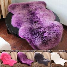 Soft Faux Fur Sheepskin Rugs Hairy Washable Carpet Mat Fluffy Mats Room Decor