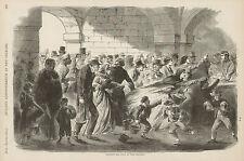 Civil War Union Charity New Orleans Feeding The Poor Original Antique Art Print
