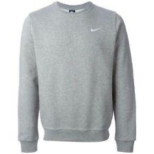Nike Classico Felpa girocollo in Felpa Pullover Maglione Top Grigio