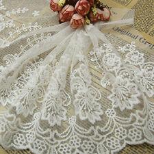 1Yd Width 23cm Lace Trim Flower Fringe DIY Applique Sewing Craft Embroidery Trim