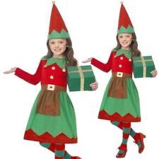 Ragazze Elf Costume Santa's Piccolo Aiutante Natale Vestito