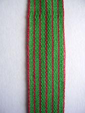 FRANCE:ruban 10 cm x 10 mm médaille militaire MINIATURE, croix de guerre 14 / 18