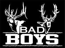 Bad Boys Hunting Deer Buck Whitetail Car Boat Truck Window Vinyl Decal Sticker