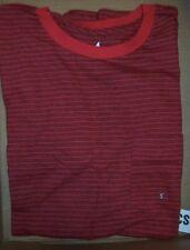 NEW Volcom Stone short sleeve t shirt black red stripe pocket tee Small or XL