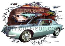 1964 Green Studebaker Avanti Custom Hot Rod Diner T-Shirt 64 Muscle Car Tee's