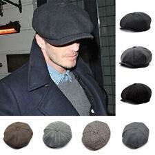 81e09ec23d396 Men Flat Cap Beret Herringbone Newsboy Peaky Blinders Baker Classic Sun Ivy  Hats