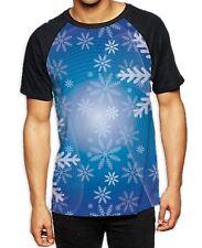 Christmas Snowflake Men's All Over Print Graphic Contrast Baseball T Shirt