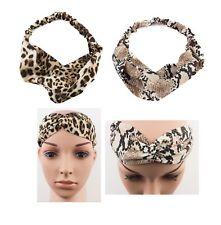 Animal Print Headband Hairband Twist Knot Stretch Soft Fabric Band Kylieband-eb