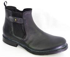 Bottines boots homme BUNKER noir vielli B918 C Black Shoes