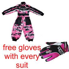 Nuevo Wulfsport Pink Camo Niños Jóvenes Traje de Motocross (todos los tamaños) * Guantes Gratis *