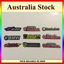 Alloy Logo Badge Sticker HKS BMW HONDA YAMAHA DUCATI SUZUKI BENZ FERRARI JAOS