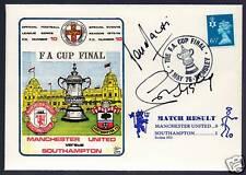1976 FA Cup Final Signed Postal Cover Man Utd Lou Macari Sammy McIlroy Autograph