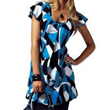 MINIKLEID Shirtkleid KLEID Flügelärmel royal-blau schwarz weiß Gr.34 36