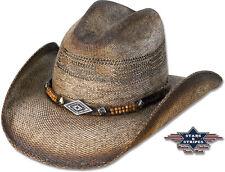 Stroh-Hut Westernhut Cowboyhut »SPEED« Braun Country Western Stars & Stripes