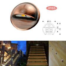 35mm 12V Bronze Half Moon Outdoor Garden LED Deck Rail Stair Step Light Lighting