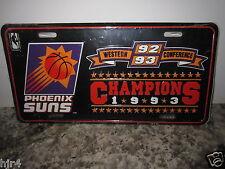 Phoenix Suns 1993 NBA Finals West Conf Champions License Plate NEW