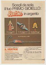 PUBBLICITA' ADVERTISING WERBUNG 1977 BARBIE GIOIELLI IN ARGENTO MATTEL