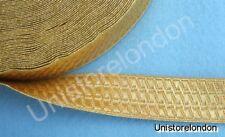 Braid Gold Mylar BNS 25mm Rank marking Lace Trim R377