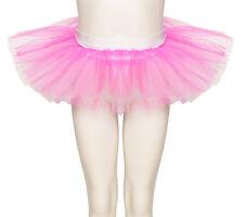 Hot Pink & White Tutu Skirt Dance Ballet Halloween Fancy Dress Katz All Sizes