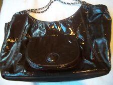 Handbag WOW! Shoulder Bag BIG Brown Patent EUC Must See Free Ship