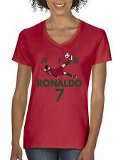 "V-NECK Ladies Cristiano Ronaldo Real Madrid ""Air Ronaldo PIC""  T-shirt"