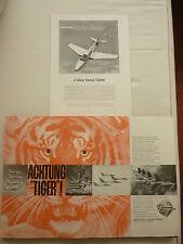 6/1958 PUB GRUMMAN AIRCRAFT SUPER TIGER US NAVY BLUE ANGELS / HAWKER HUNTER AD