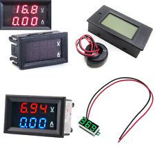 Blue&Red Red&Red LED DC 0-100V 10A Dual Digital Voltmeter Ammeter Panel Amp Volt