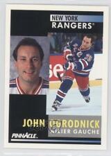 1991-92 Pinnacle French #145 John Ogrodnick New York Rangers Winnipeg Jets Card