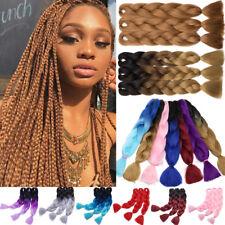 3 Bundle Jumbo Braiding Hair 24'' Ombre Kanekalon Afro Box Braids UK 100g/pc LC5