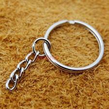 "20 50 100 keyring Keychain 1"" Chain Purse Zipper Pulis Snap Spring Hooks Ct149F3"