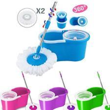 360° Microfiber Spinning Magic Rotating Head Easy Cleaning Floor Mop Bucket Set