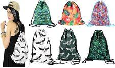 Backpack Fitness Bag Rucksack Girls School Women Men Boys Full Print Polyester