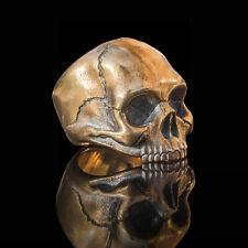 Handmade bronze ladies biker skull ring inspired by Janis Joplin -  Relic Series