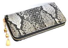 PORTAFOGLIO BORSELLO donna NERO pochette borsellino pelle rettile clutch 1265