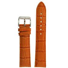 Watch Band Orange Genuine Leather Alligator Grain LEA225