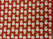 PUPAZZO DI NEVE NATALE IN TESSUTO 100% COTONE Metro Patchwork materiale CUSCINI abbigliamento