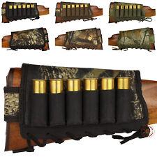 Ammo Holder Rifle Buttstock Shotgun 12ga Nylon Cover Padded Leather Loops