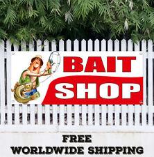 Bait Shop Advertising Vinyl Banner Flag Sign Fishing Lure Tackle Fisherman