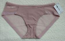 """NWT Calvin Klein QF1708 """"Sculpted"""" Nylon with Mesh Bikini, Pale Pink (698)"""