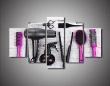 Hair Salon Decor 5pCanvas Print Poster Wall Art Picture Hairdresser Kit Painting