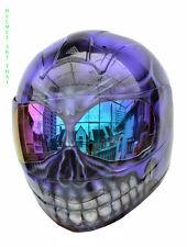 Custom Airbrush Painted Full face Motorcycle Helmet