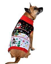 SoCal Look Dogs Christmas Sweaters Deer Snowman Pullover Black