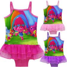 Girls Trolls Swimsuit Swimwear Bathing swimming suit Bikini Size 3-10 ZG9