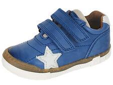 Bisgaard Sneakers Halbschuh Leder 40305 Blau Klett Gr. 24-32 Neu