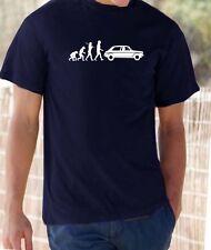 Evolution of Man, Austin 1300 1100 t-shirt