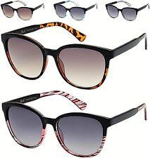 Nuevas Gafas de Sol Negro Damas Mujeres cuadrado de ojo de gato grandes redondos Vintage Retro UV400