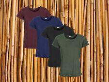 Organic cotton & Bamboo T-Shirt, Ladies Green / Blue / Red / Black