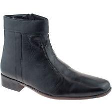 uomo pelle morbida caviglia zip stivali misura UK 6 - 12 NERO SCIMITAR m753a KD