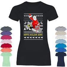 Damen T-Shirt Kim Jong Weihnachten Nordkorea