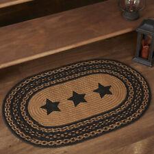 VHC Primitive Rug Farmhouse Stars Flooring Black Jute Star Stenciled